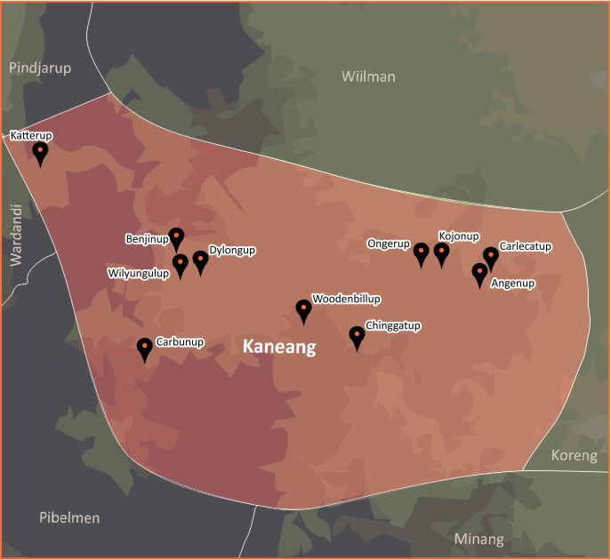 Tindale Language Map - Kaneang